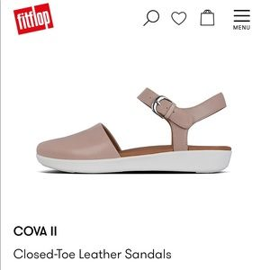 Fitflop Cova II leather closed toe sandal - mink
